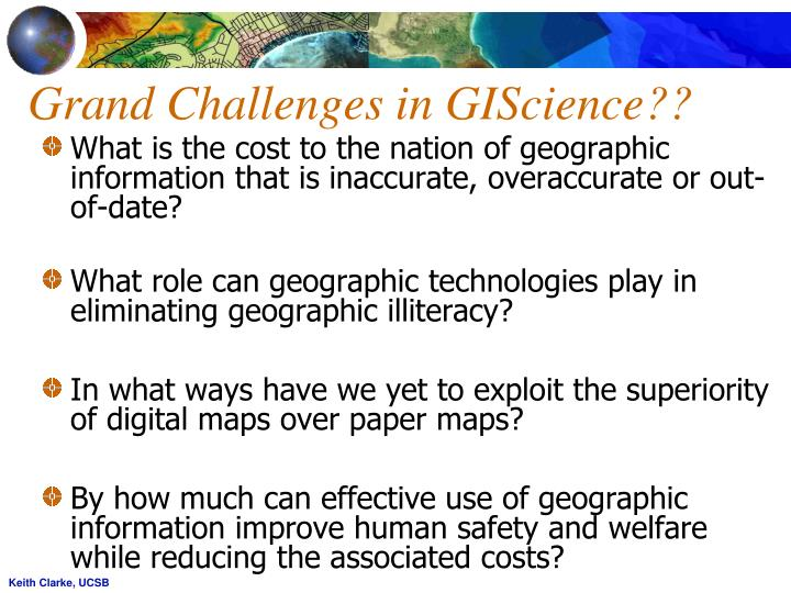 Grand Challenges in GIScience??