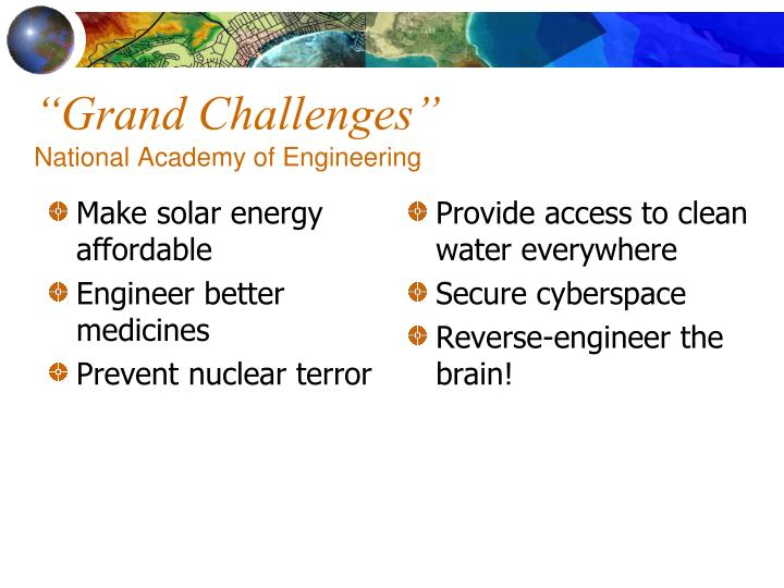 Grand challenges national academy of engineering