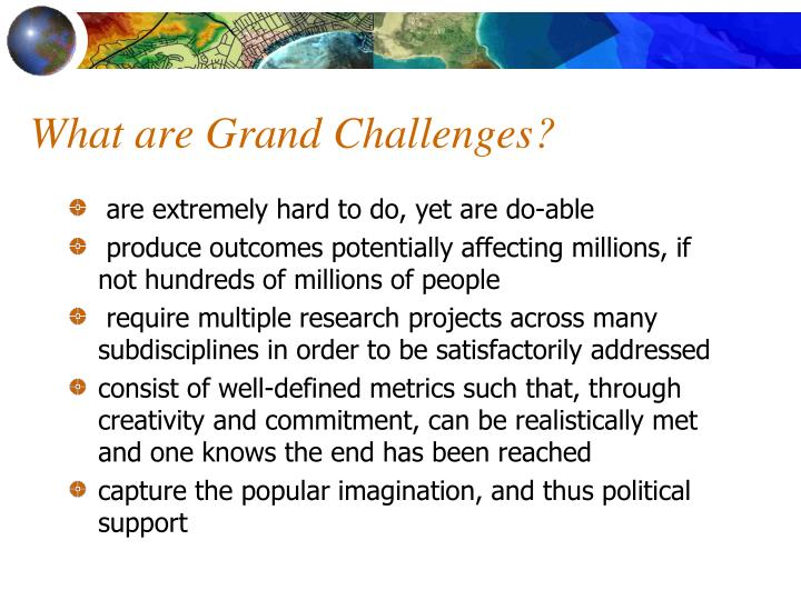 What are grand challenges