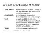 a vision of a europe of health