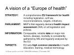a vision of a europe of health1
