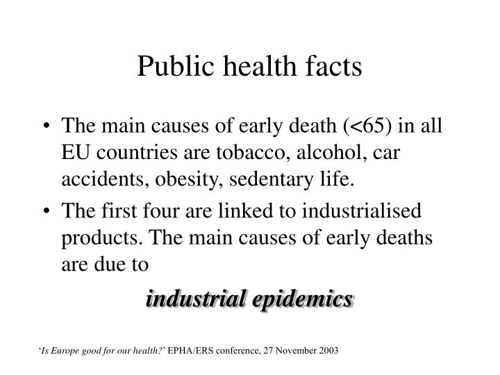 Public health facts