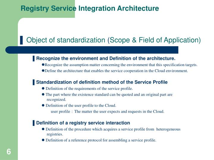 Registry Service Integration Architecture