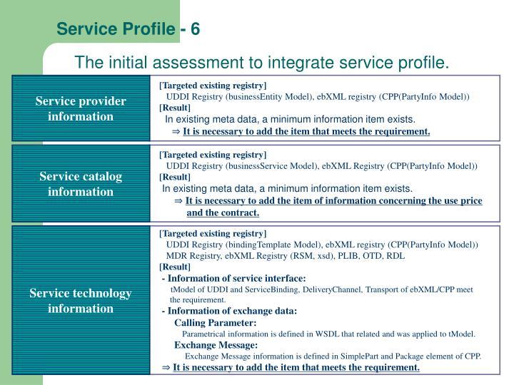 Service Profile - 6