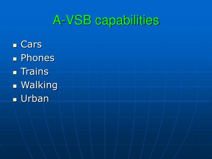 A-VSB capabilities