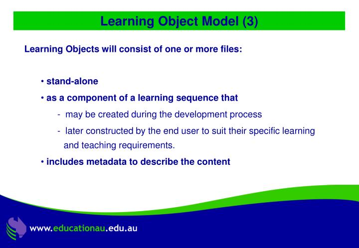Learning Object Model (3)