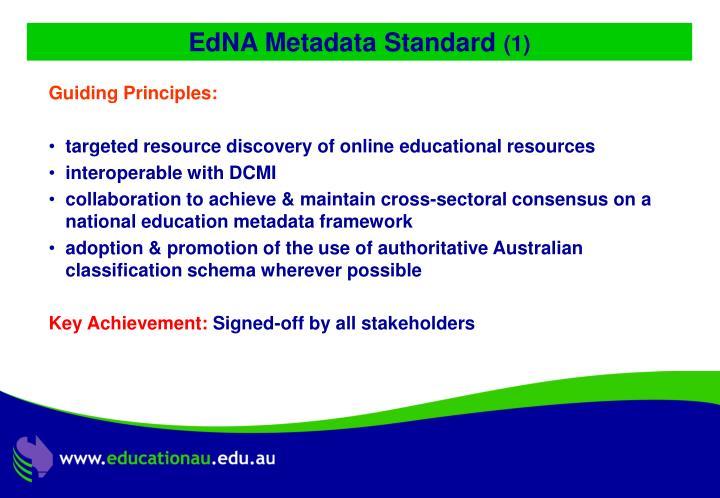 EdNA Metadata Standard