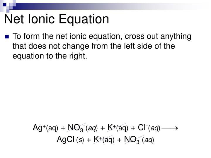 Net Ionic Equation