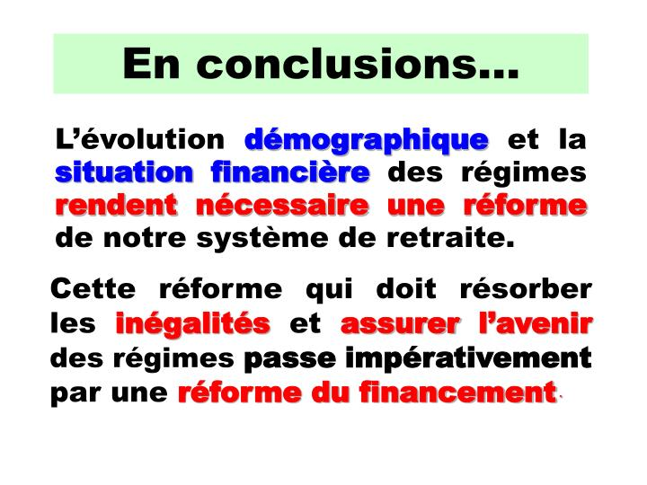 En conclusions…