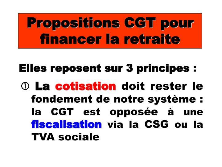 Propositions CGT pour financer la retraite