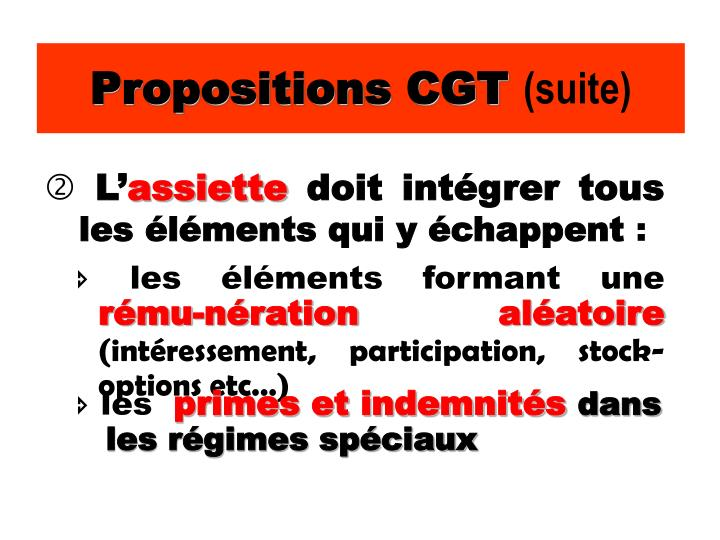 Propositions CGT