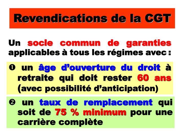 Revendications de la CGT