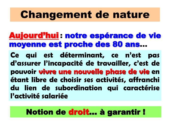 Changement de nature