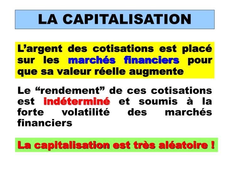 LA CAPITALISATION