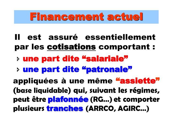 Financement actuel