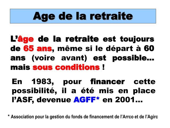 Age de la retraite
