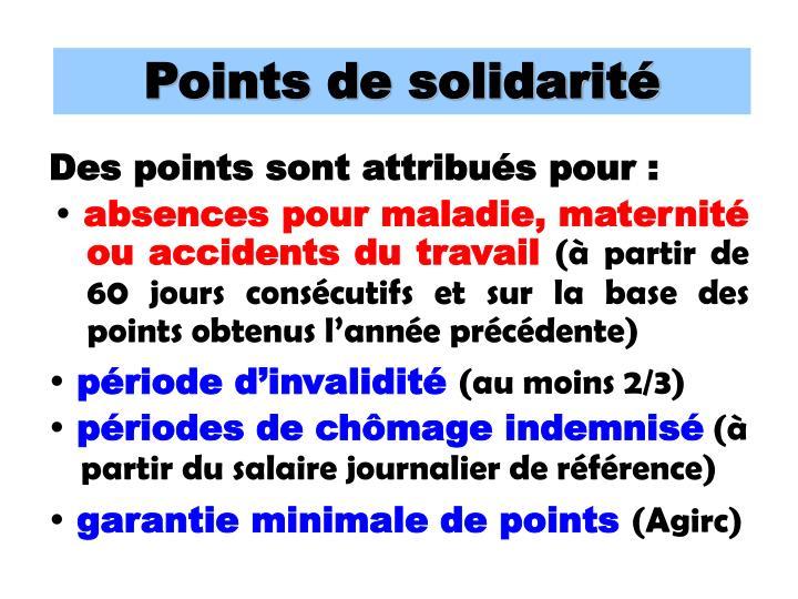 Points de solidarité