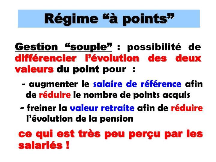 """Régime """"à points"""""""