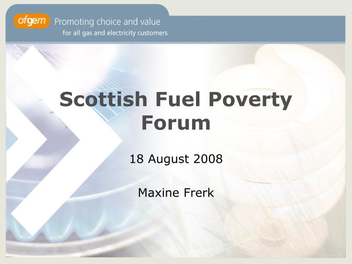 Scottish fuel poverty forum