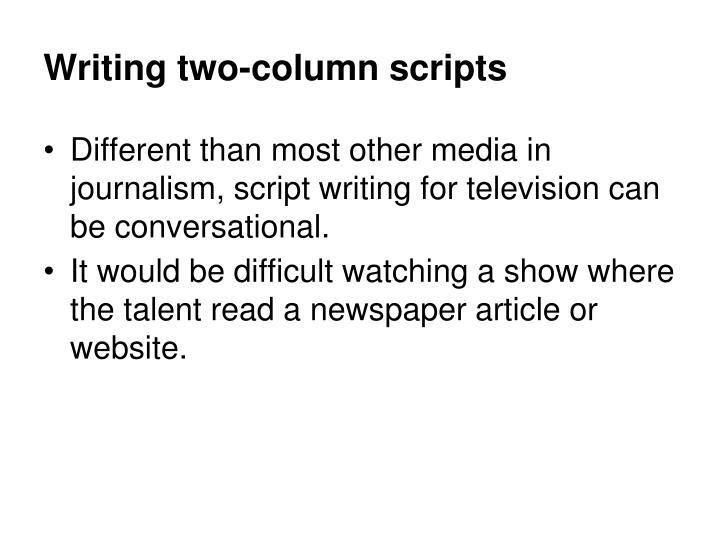 Writing two-column scripts
