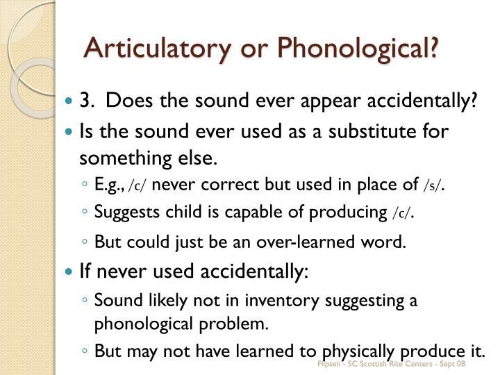 Articulatory