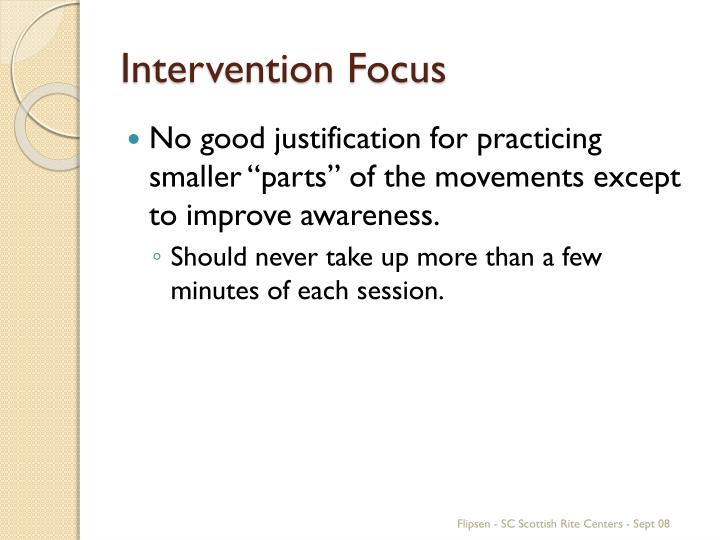 Intervention Focus
