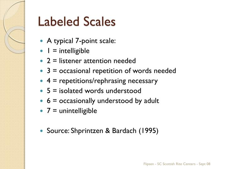 Labeled Scales