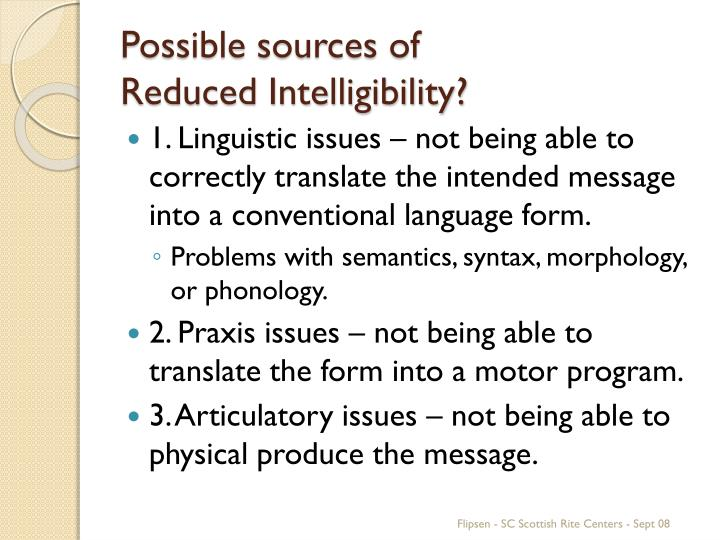 Possible sources of