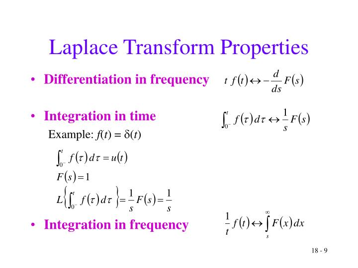 Laplace Transform Properties