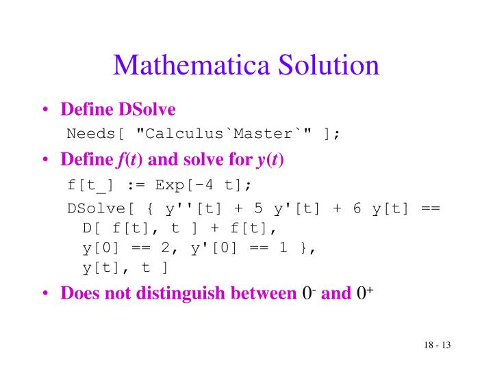 Mathematica Solution