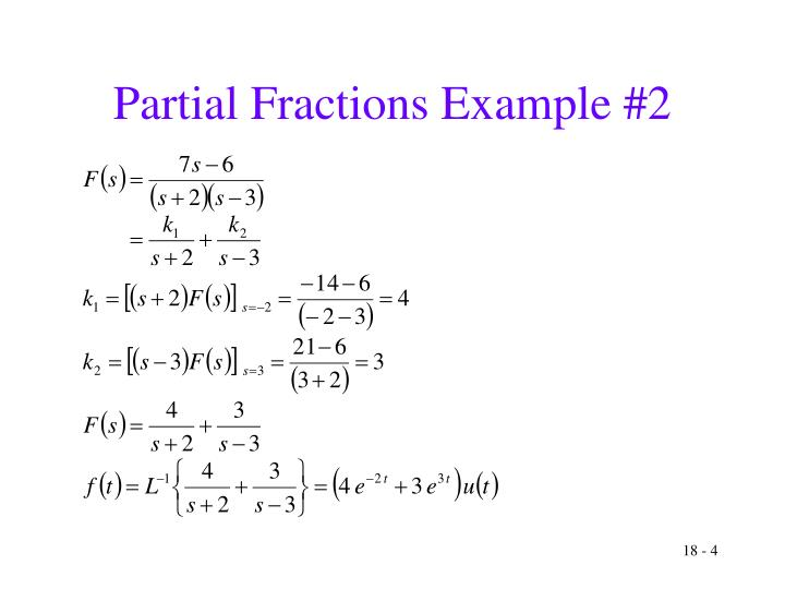 Partial Fractions Example #2