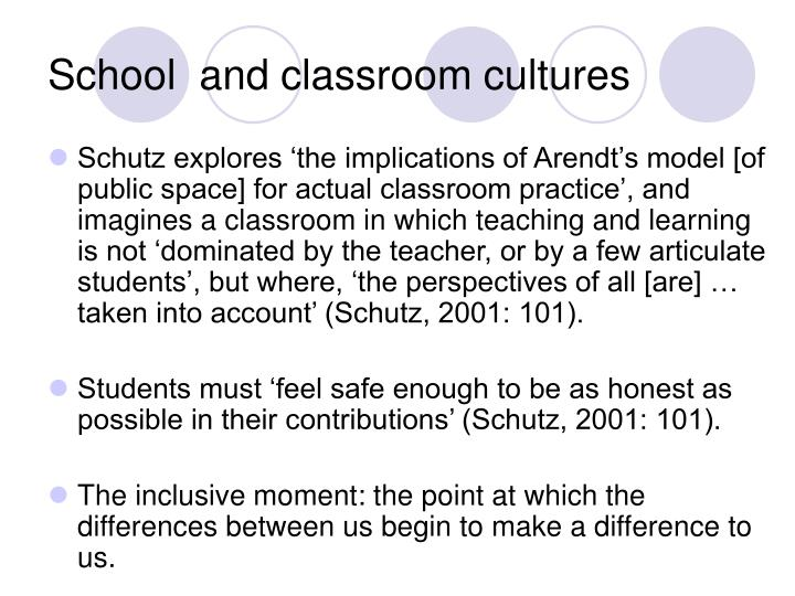 School  and classroom cultures