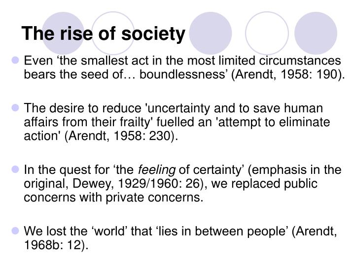 The rise of society