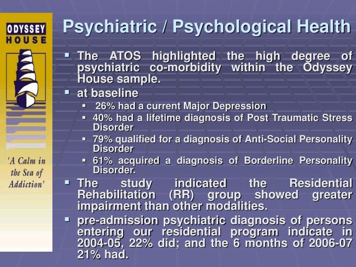 Psychiatric / Psychological Health