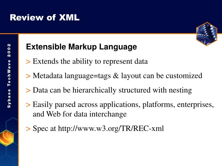 Review of xml