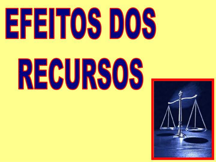 EFEITOS DOS