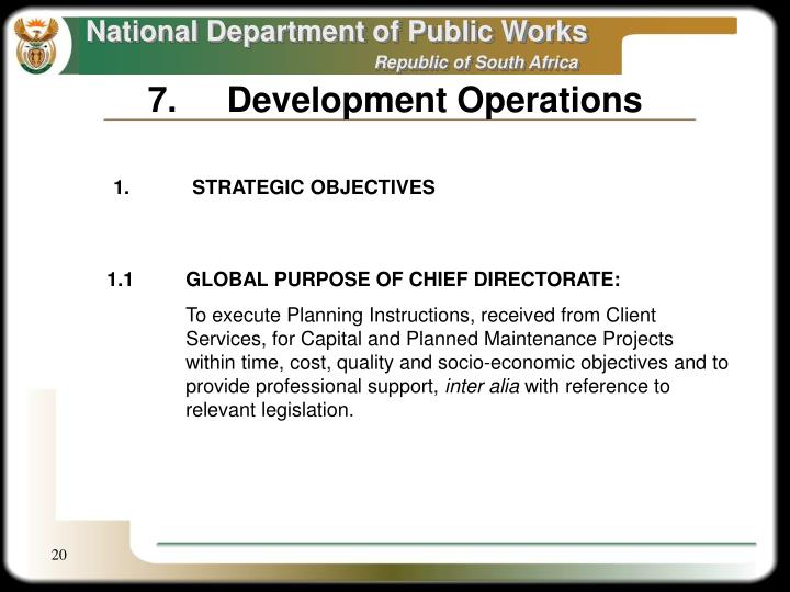 7.	Development Operations