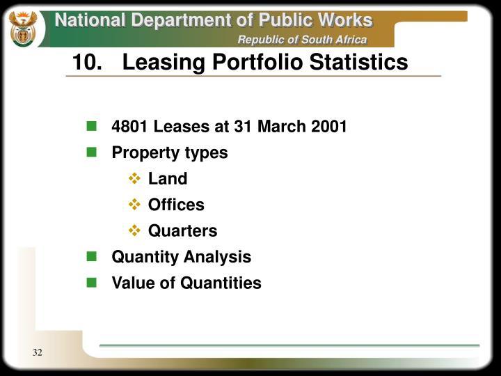 10.Leasing Portfolio Statistics