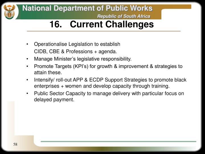 16.Current Challenges