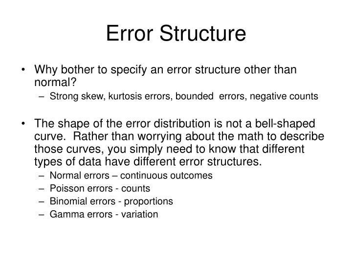 Error Structure
