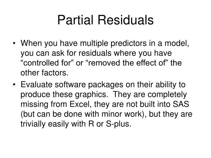 Partial Residuals