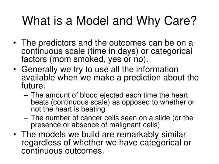 What is a Model and Why Care?