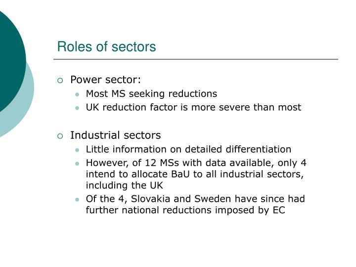 Roles of sectors