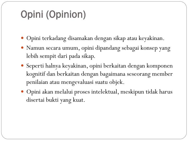 Opini
