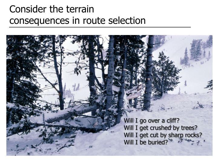 Consider the terrain