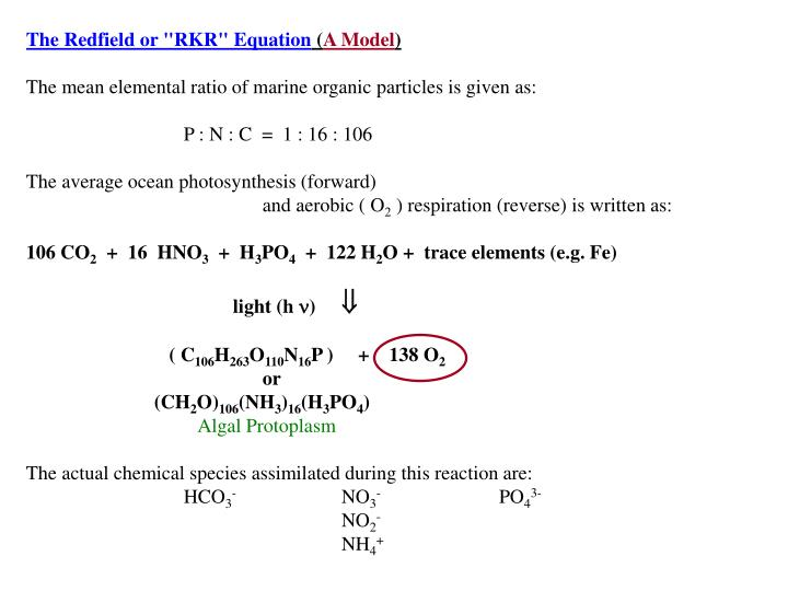 "The Redfield or ""RKR"" Equation"