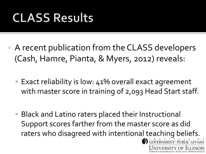 CLASS Results