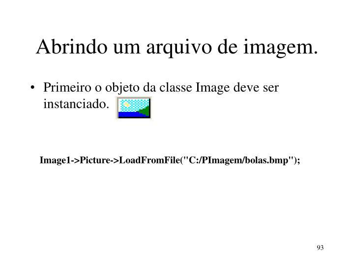 Abrindo um arquivo de imagem.