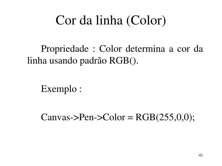 Cor da linha (Color)