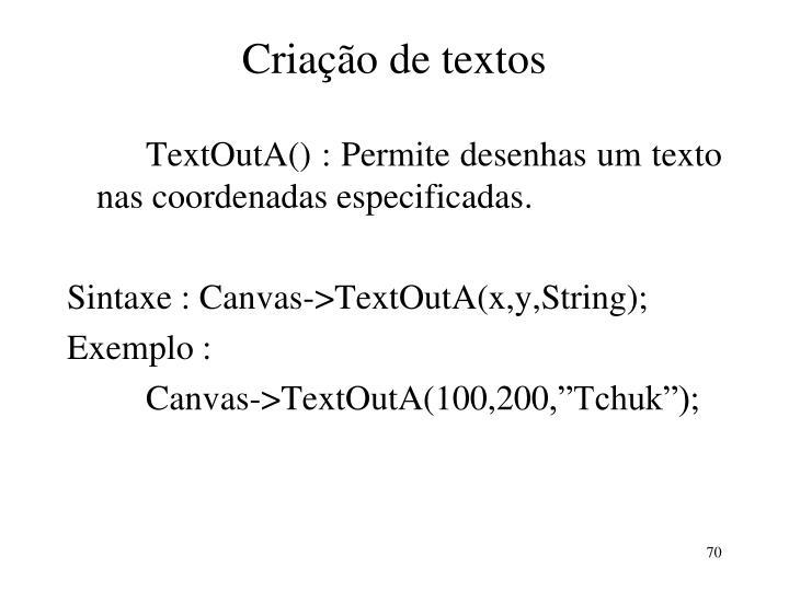 Criação de textos